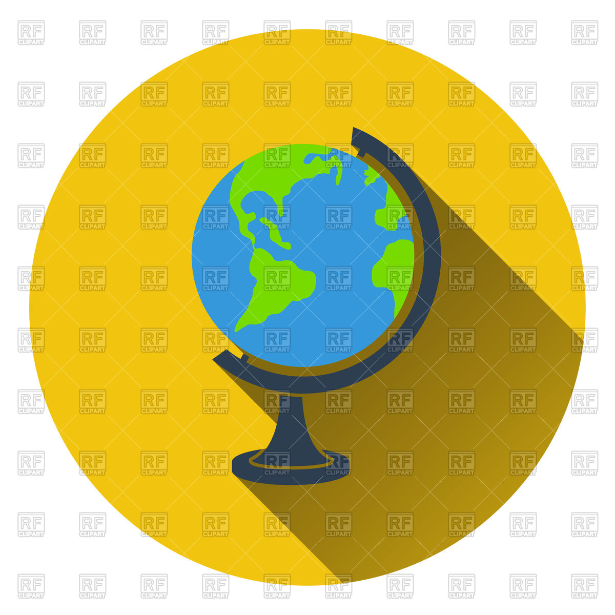 Flat design icon of globe in ui colors. Vector Image #114983.