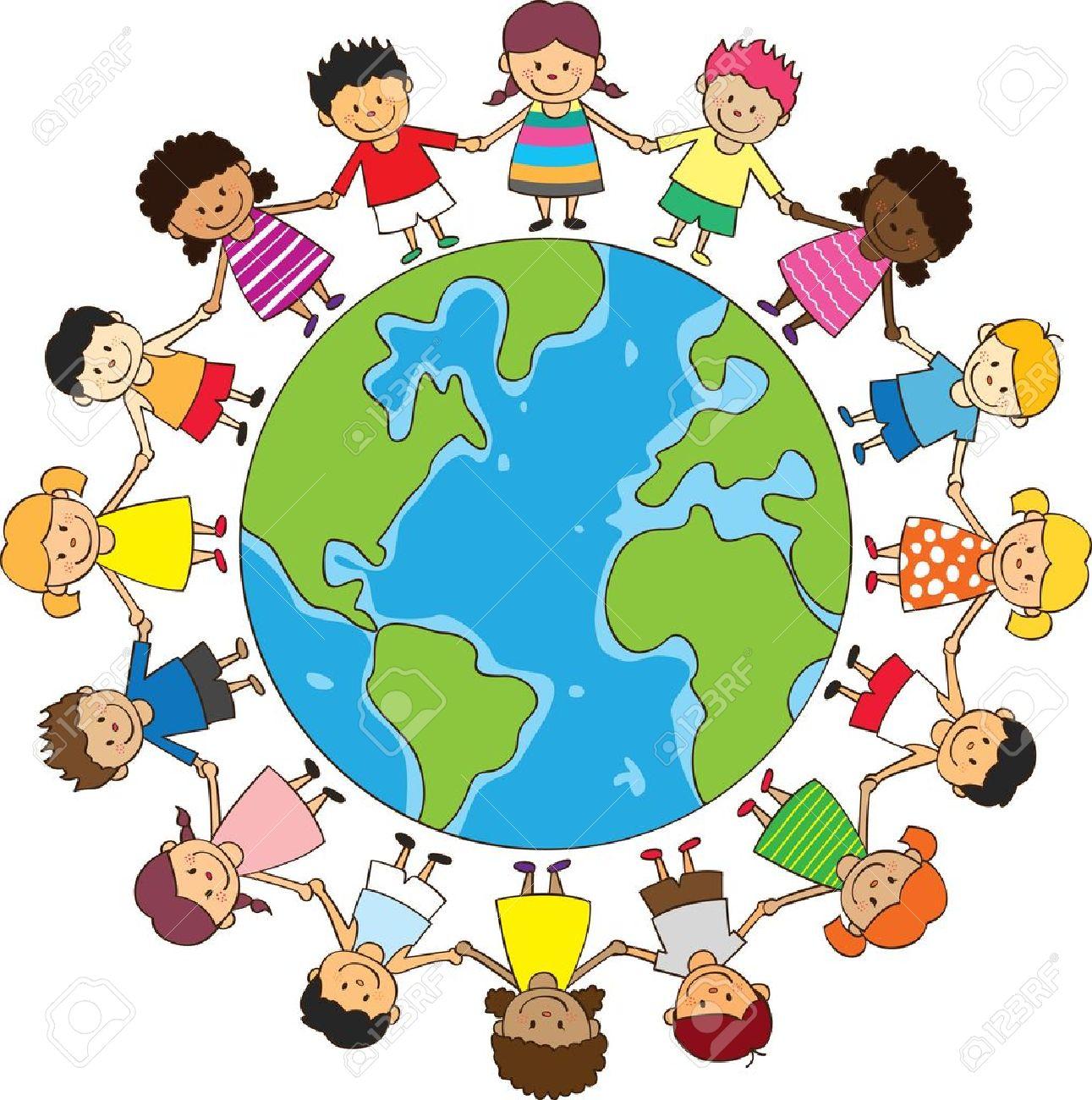 Children Globe Clipart.