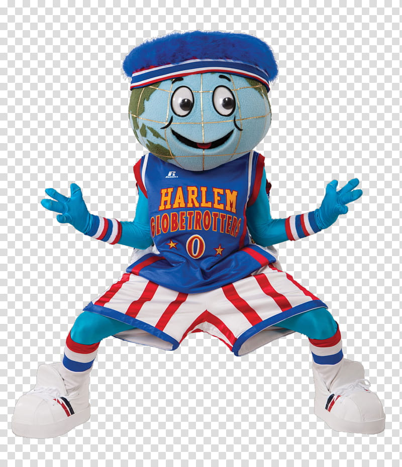 New s, Harlem Globetrotters mascot transparent background.