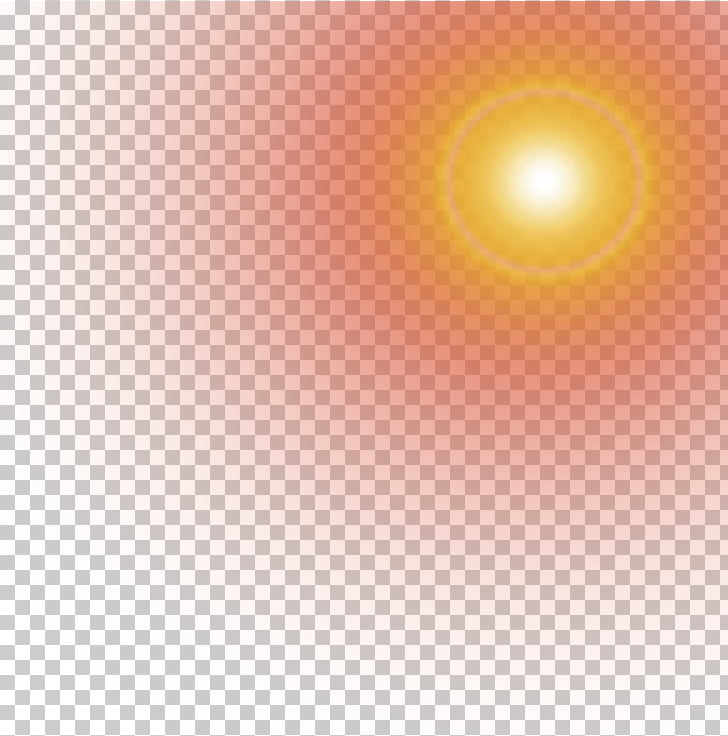 Light Yellow Halo, Yellow glow effect element, round red and.