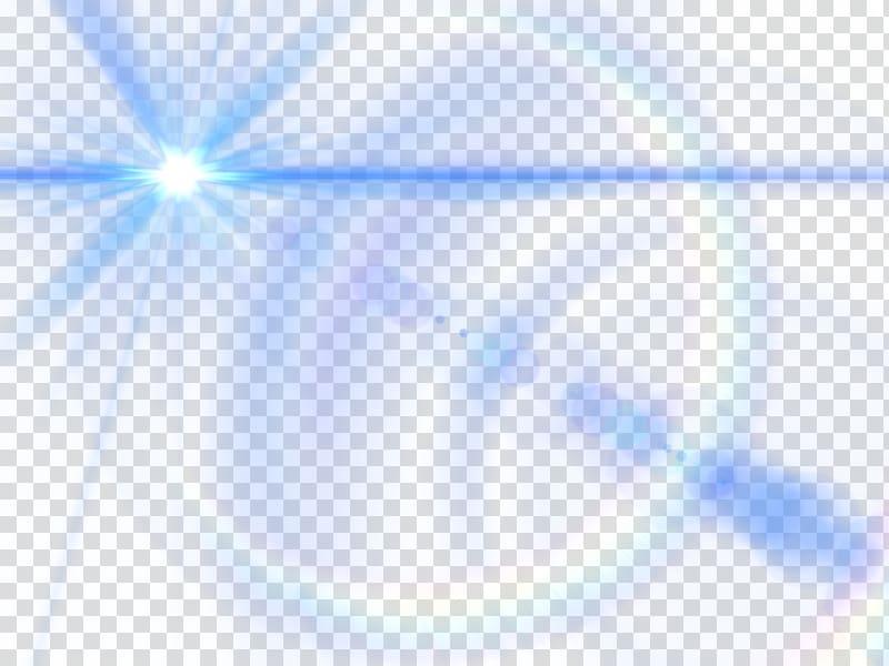 Light Triangle Sky Blue, Blue lens glow effect transparent.