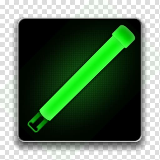 Glow stick Android Light, android transparent background PNG.