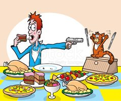 Seven Deadly Sins Gluttony! Stock Vector.