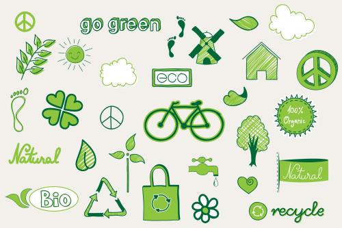 Go Green Clipart Printable.