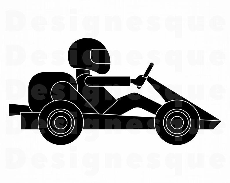 Kart Racing SVG, Go Kart SVG, Go Karting SVG, Kart Racing Clipart, Kart  Racing Cut Files For Silhouette, Files for Cricut, Dxf, Png, Vector.