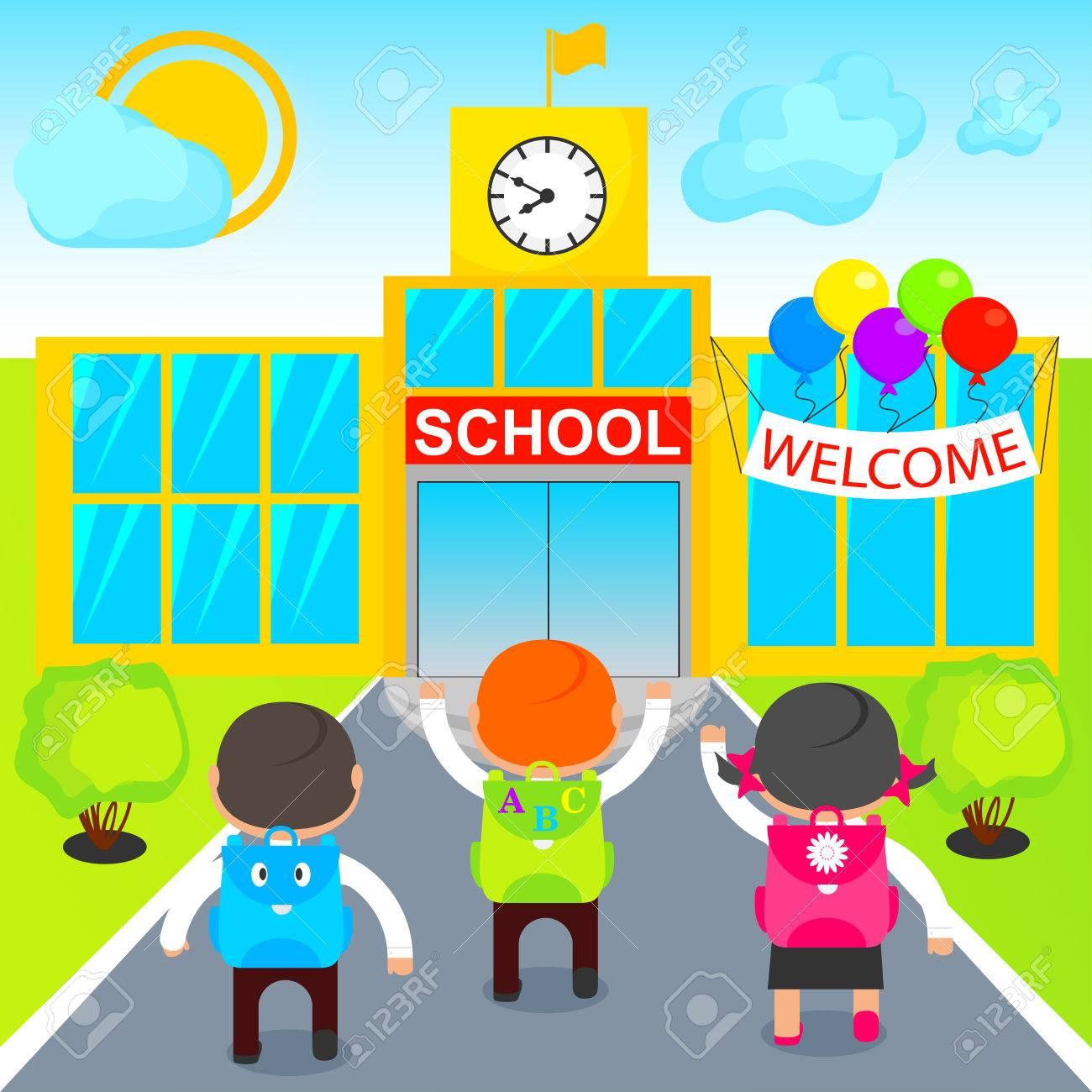 pupils go to school.