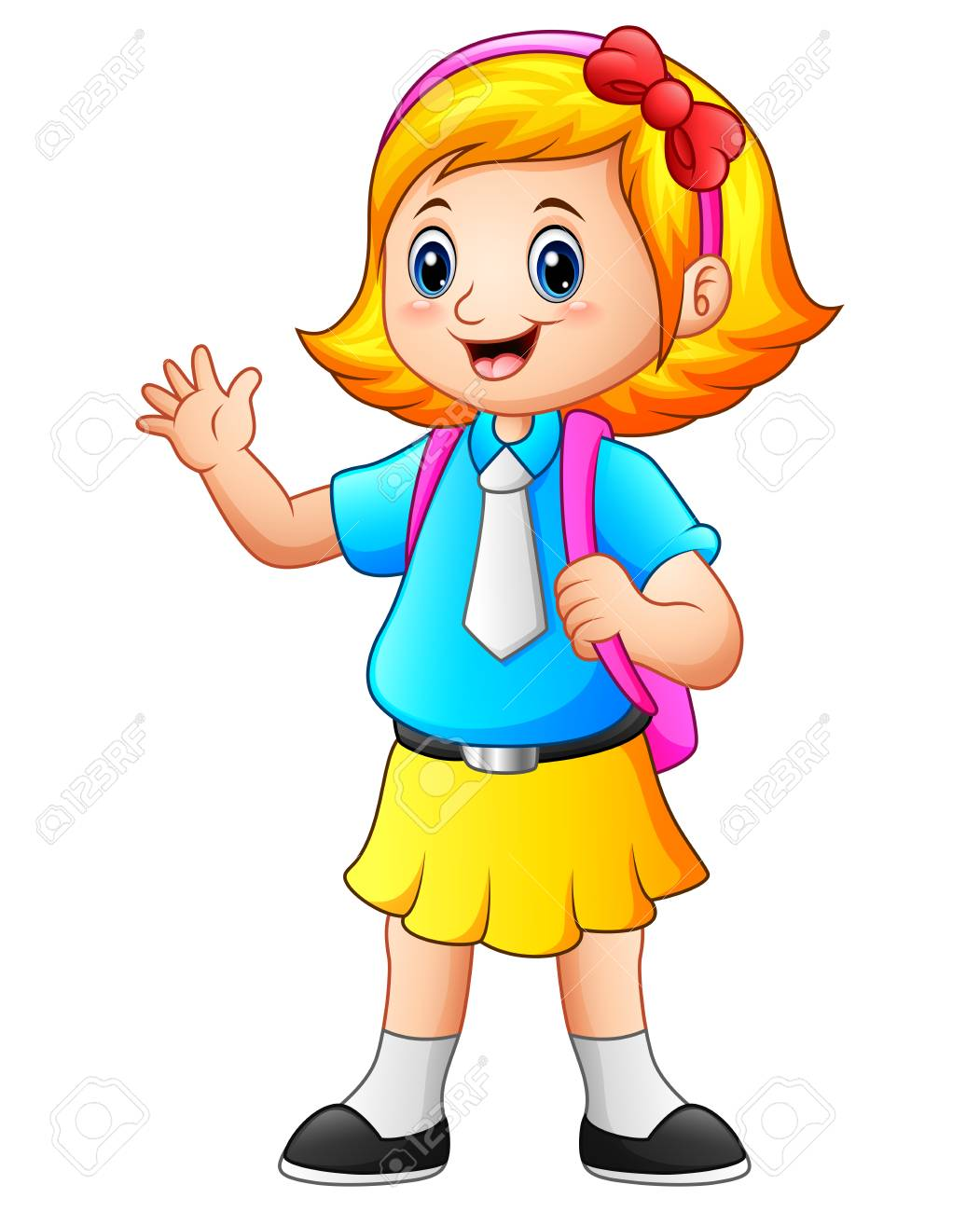 Girl go to school clipart 8 » Clipart Station.