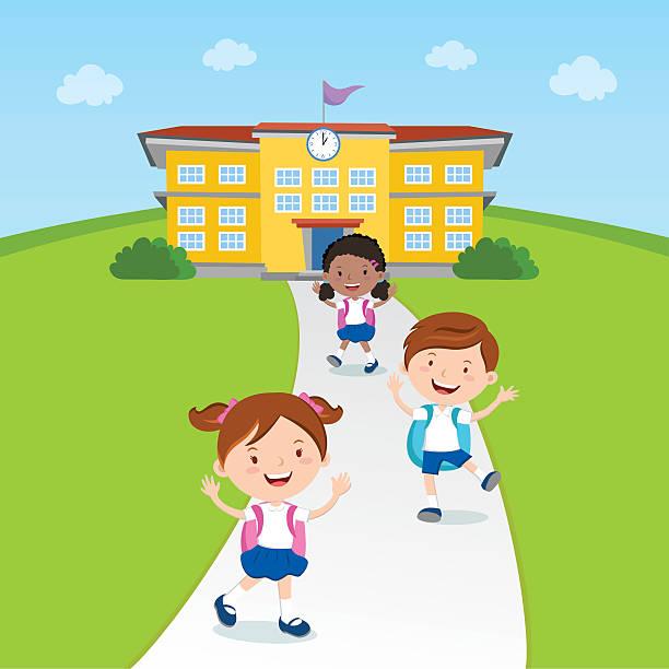 Best School Children Illustrations, Royalty.