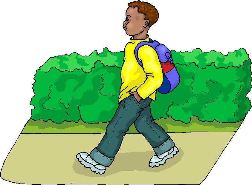 Boy Go to School Free Clipart.