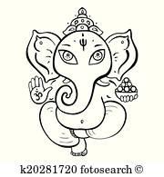 Hindu God Clip Art.