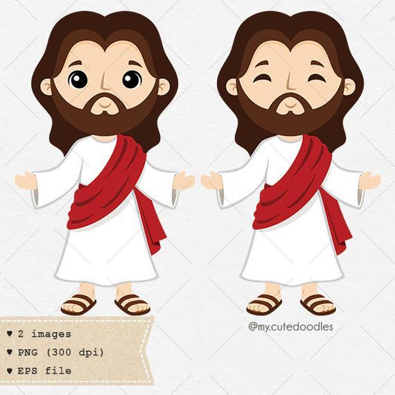 Jesus christ clipart, jesus clip art, son of god vector art, religious  clipart, saint, cute baby Jesus, Holy clipart.