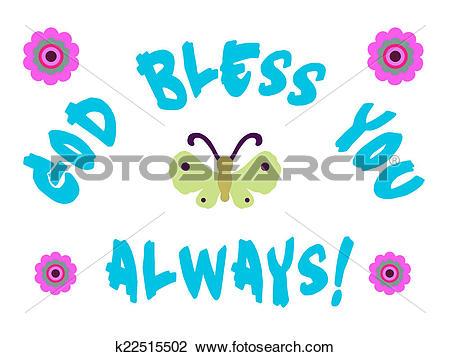 Clip Art of God Bless You k22515502.