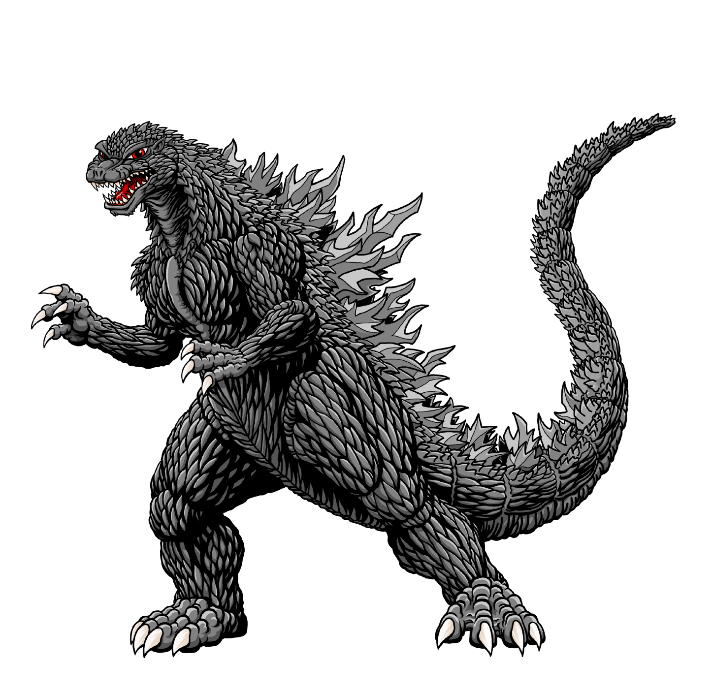 Godzilla Mothra Silhouette Drawing Clip art.