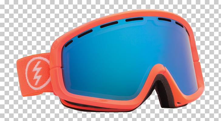 Snow goggles Lens Blue Google Chrome, Sunglasses PNG clipart.