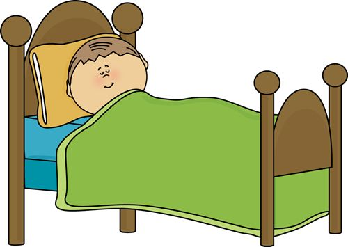 In Bed Clipart.