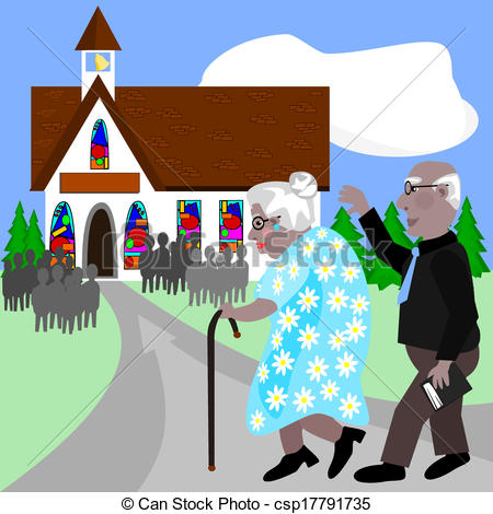 People going to church Vector Clipart Illustrations. 20 People going.