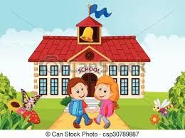 Image result for clipart go to school.