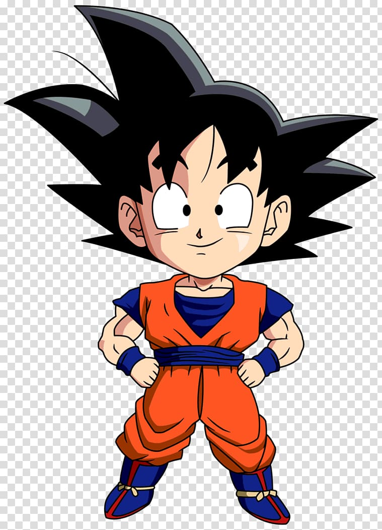 Goku Gohan Goten Vegeta Chibi, goku transparent background.