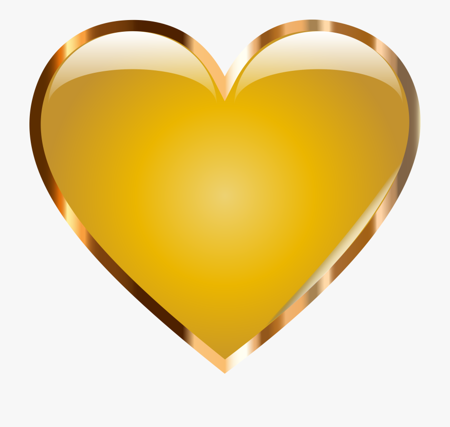 Clipart Gold Heart.