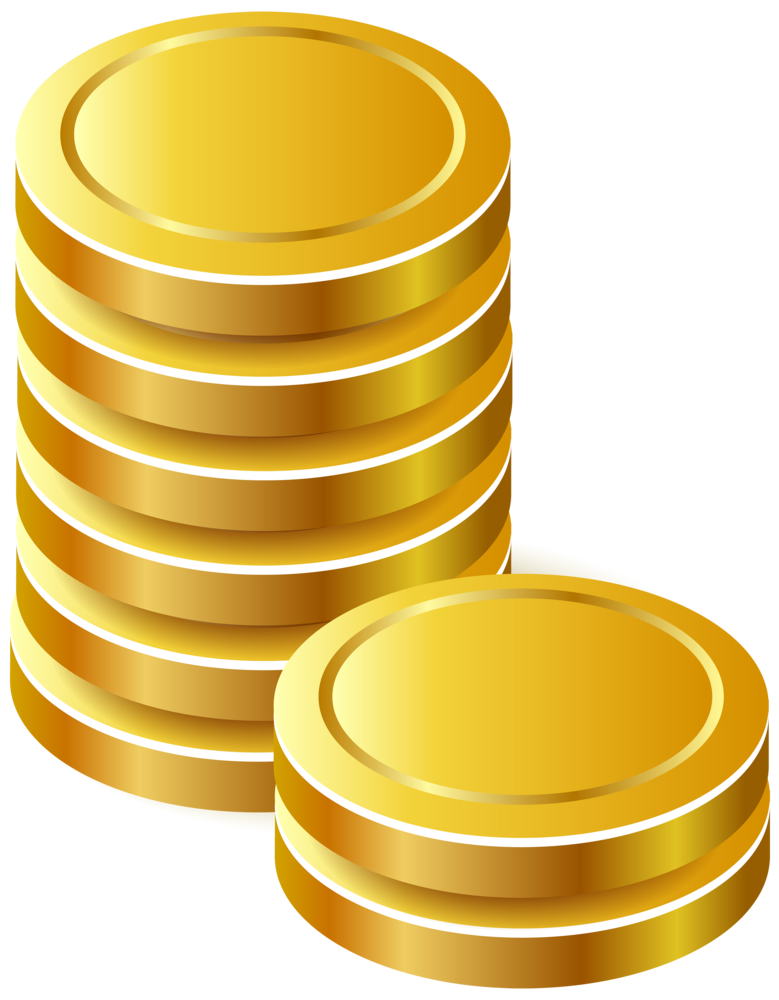 Gold Coins PNG Clipart.