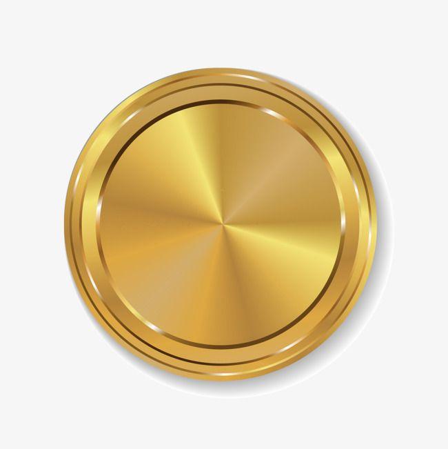 Golden Circle Gold, Circle Clipart, Golden Circle, Simple Gold Medal.