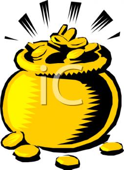 Pot of Gold Clip Art.