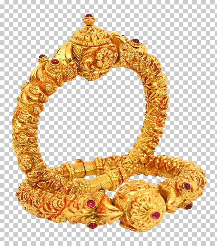 Jewellery Gold Bangle Jewelry design, indian jewellery PNG.
