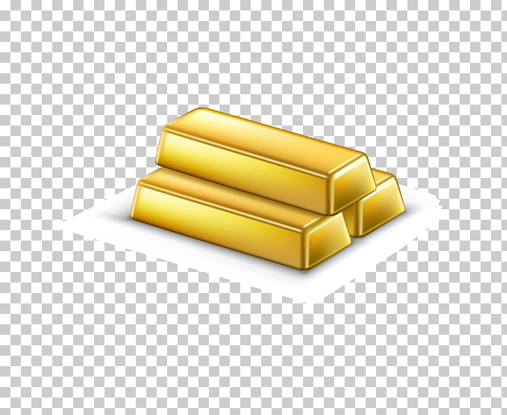 Money Gold bar Illustration, realistic painted gold bars PNG.