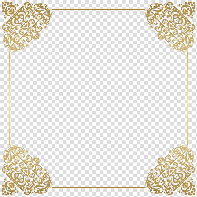 Brown floral border, Gold frame frame , Gold Border Frame.