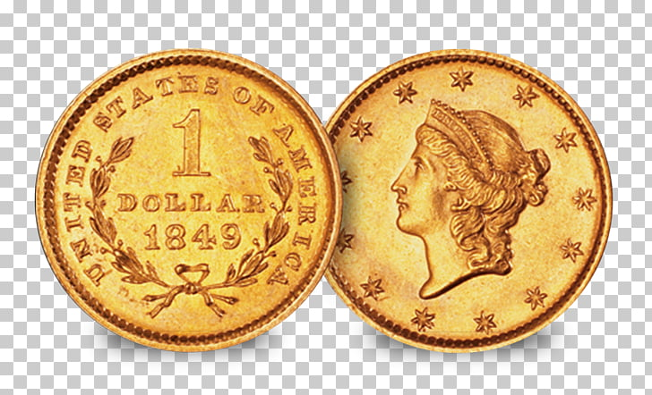 Gold coin Gold coin Silver coin Gold dollar, united states.