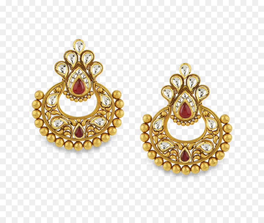 Gold Earrings clipart.