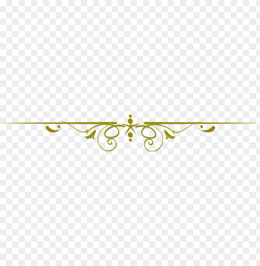 gold line clip art PNG image with transparent background.