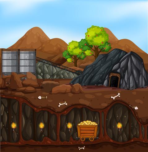 A gold mine landscape.