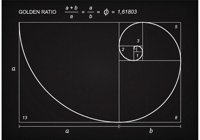 Golden Ratio Scheme Vector.