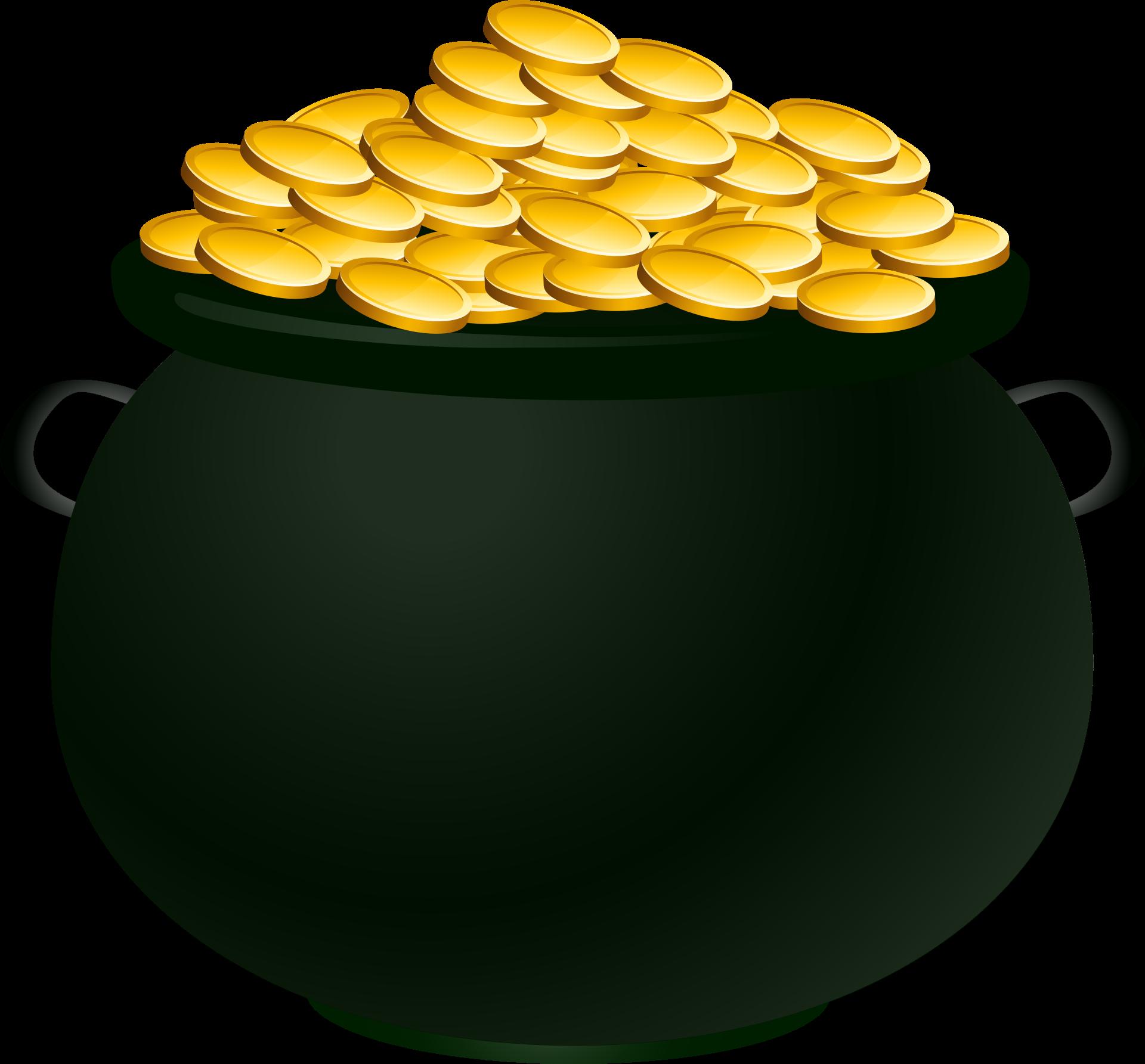 Gold Cannabis Clip art.