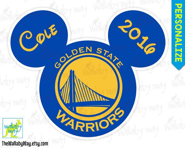 Golden State Warriors Basketball Mickey Mouse Ears Printable Iron On.