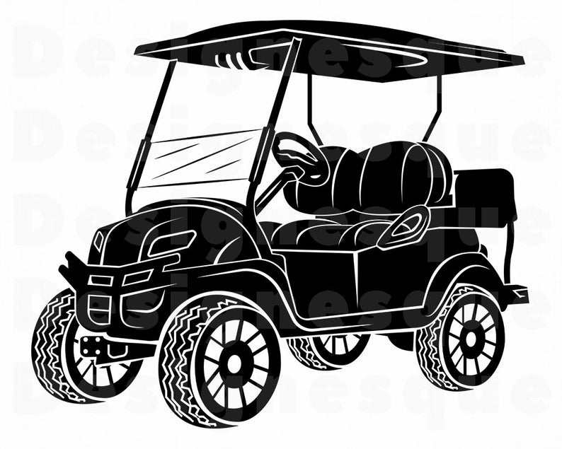 Golf Cart #2 SVG, Golf Cart Svg, Golf Cart Clipart, Golf Cart Files for  Cricut, Golf Cart Cut Files For Silhouette, Dxf, Png, Eps, Vector.