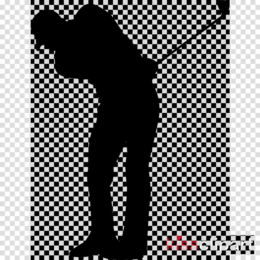 golfer standing silhouette clip art golf clipart.