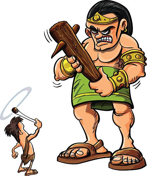 Cartoon David and Goliath » Clipart Station.