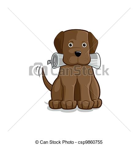 Clipart Vector of Good Boy.
