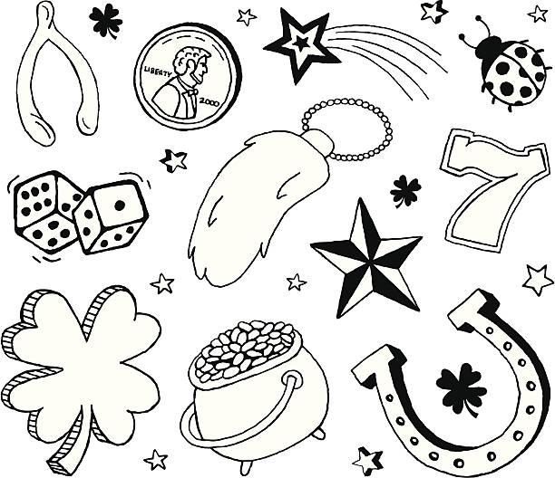 Best Good Luck Charm Illustrations, Royalty.
