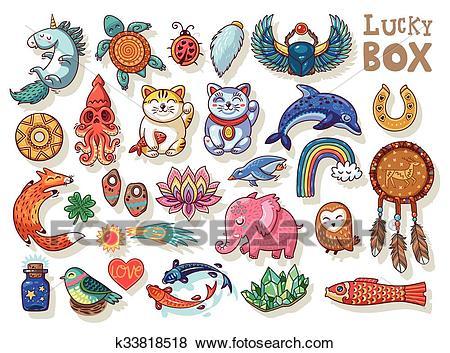 Good Luck symbols Clip Art.