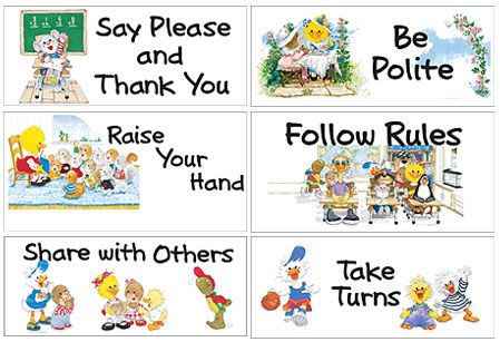 Good Manners And Right Conduct Clipart.