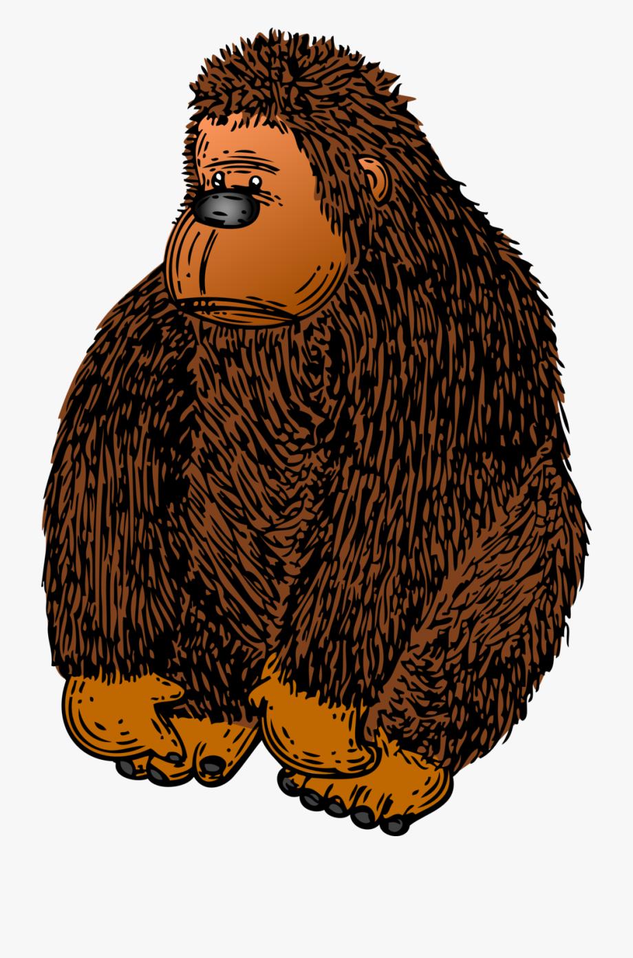 Brown Gorilla Clipart #311338.