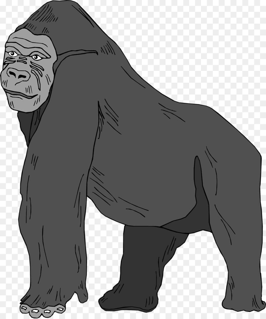 Gorilla Cartoontransparent png image & clipart free download.