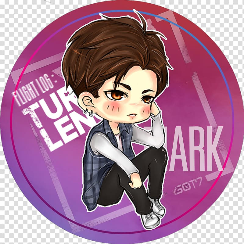 GOT7 Cartoon Flight Log: Turbulence Just Right Fan art, got7.