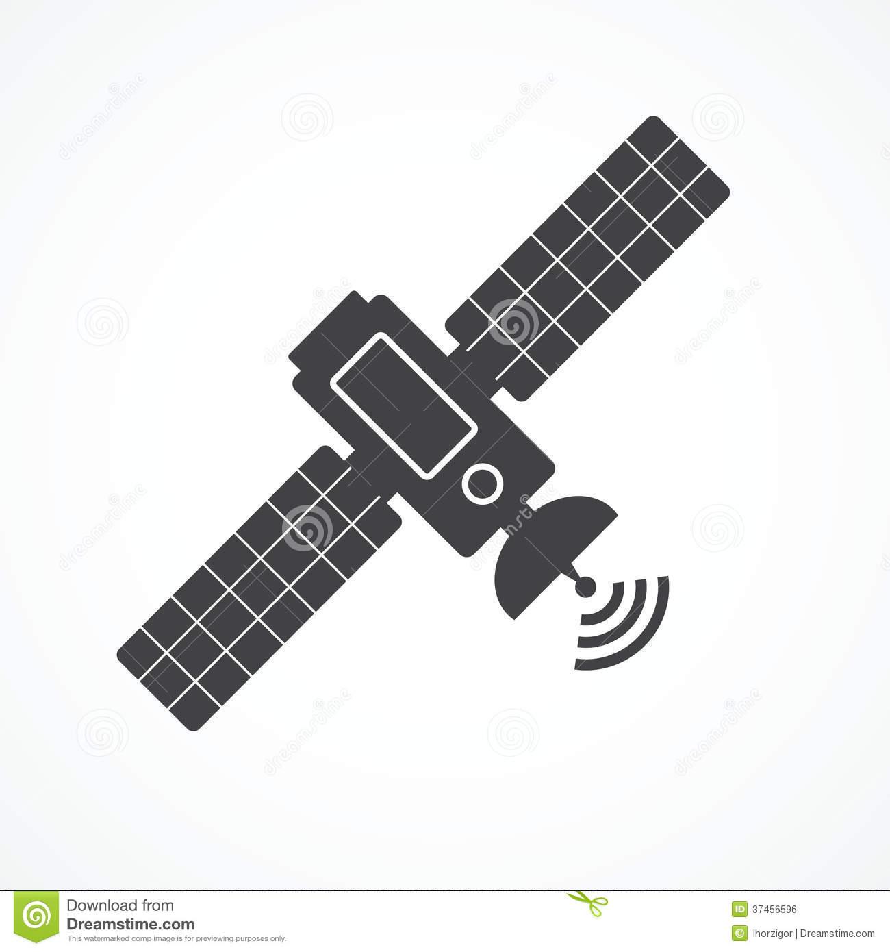 Gps Satellite Clipart.