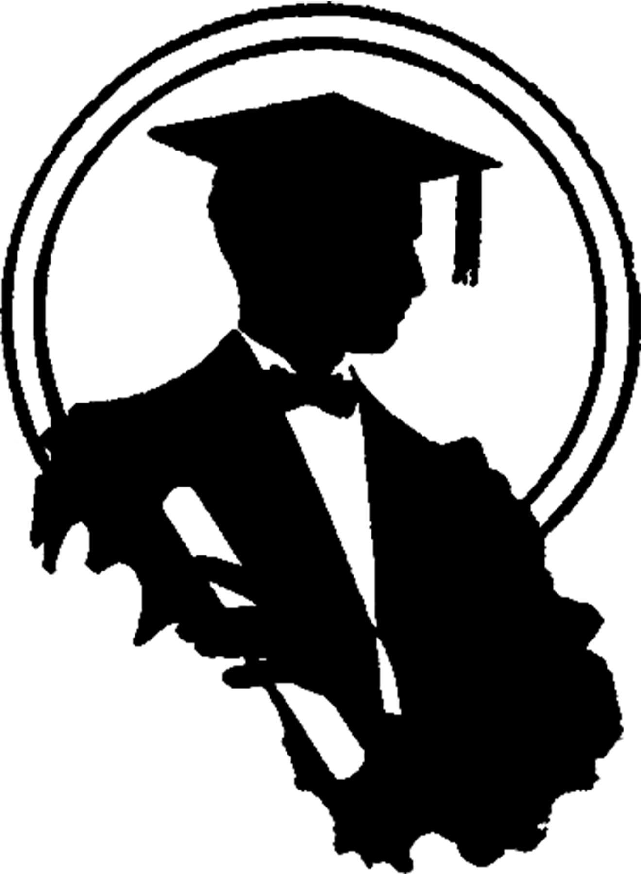 clipart graduate silhouette - Clipground