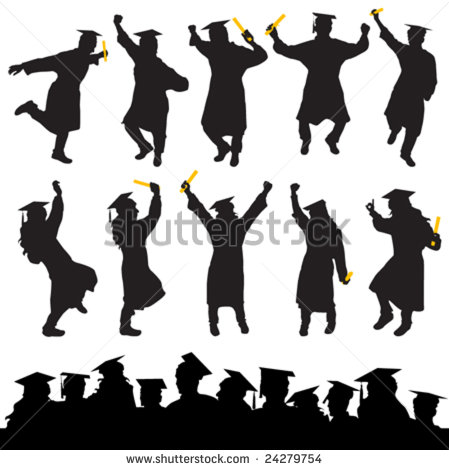 Graduate Silhouette Stock Images, Royalty.