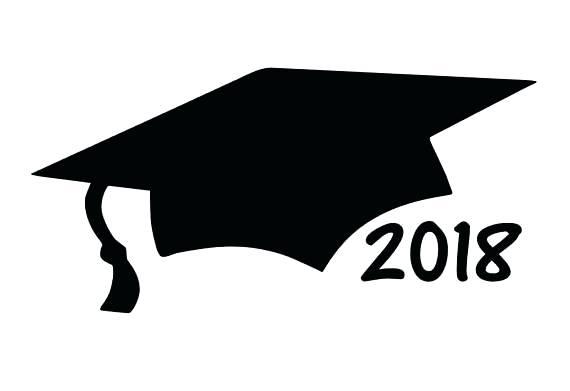 Graduation Cap Clipart Black And White.